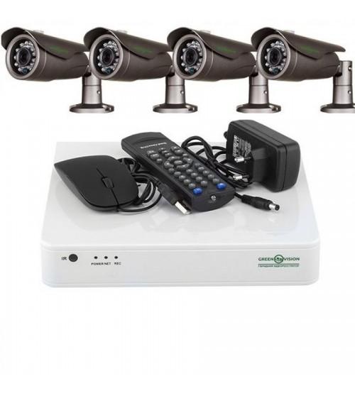 Комплект Відеоспостереження Green Vision GV-K-L11/04 720P фото 1