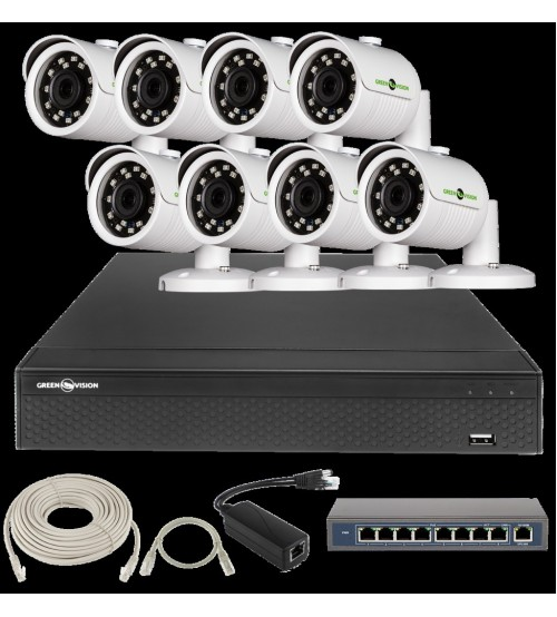 IP Комплект Відеоспостереження GV-ІР-К-L23/08 1080 P фото 1