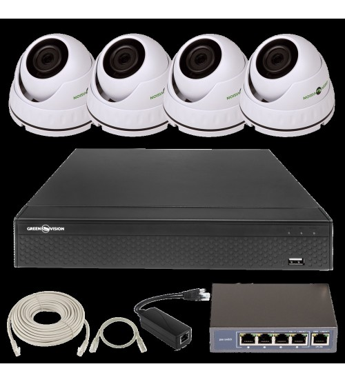 IP Комплект Відеоспостереження GV-ІР-К-L25/04 1080 P фото 1