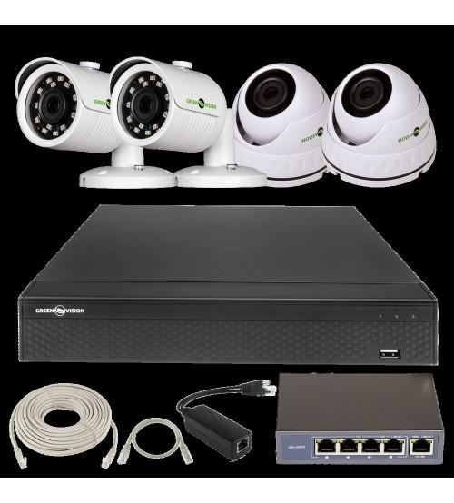 IP Комплект Відеоспостереження GV-ІР-К-L27/04 1080 P фото 1