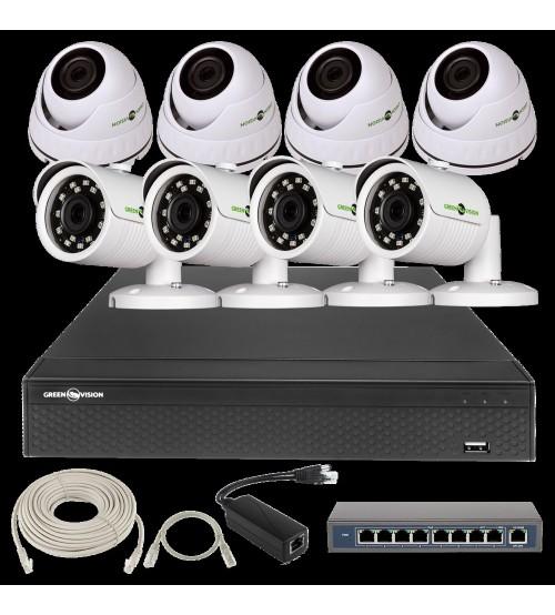 IP Комплект Відеоспостереження GV-ІР-К-L28/08 1080 P фото 1