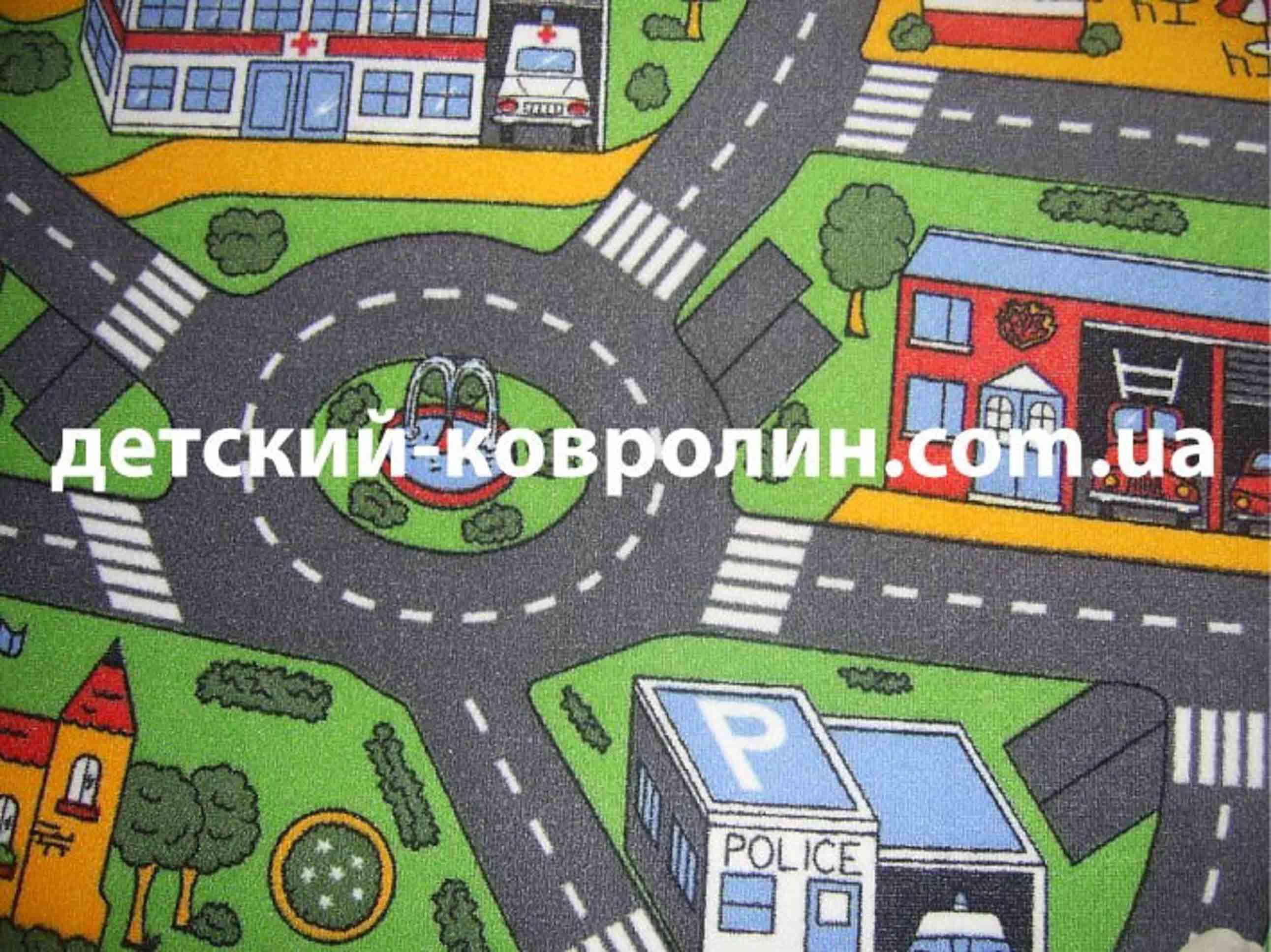 Коврик с дорогами City Life.  фото 5