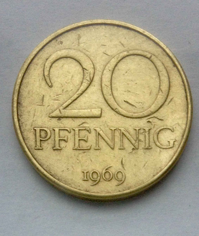 20 pfenniq 1969 Германия фото 1
