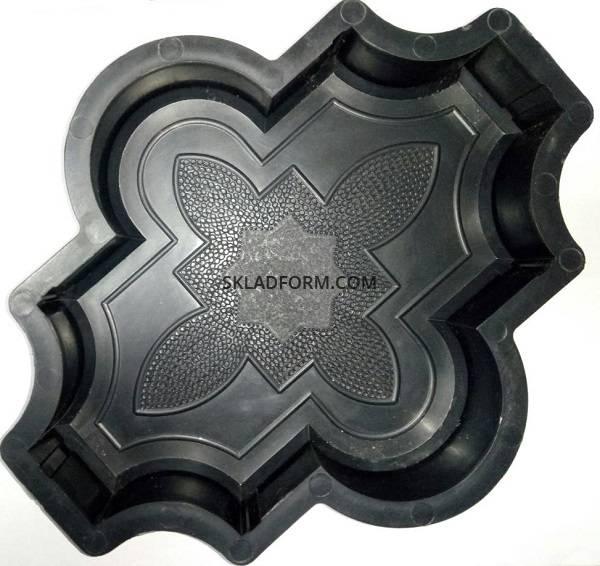 Формы для тротуарной плитки Клевер узорный 4,5 см фото 1