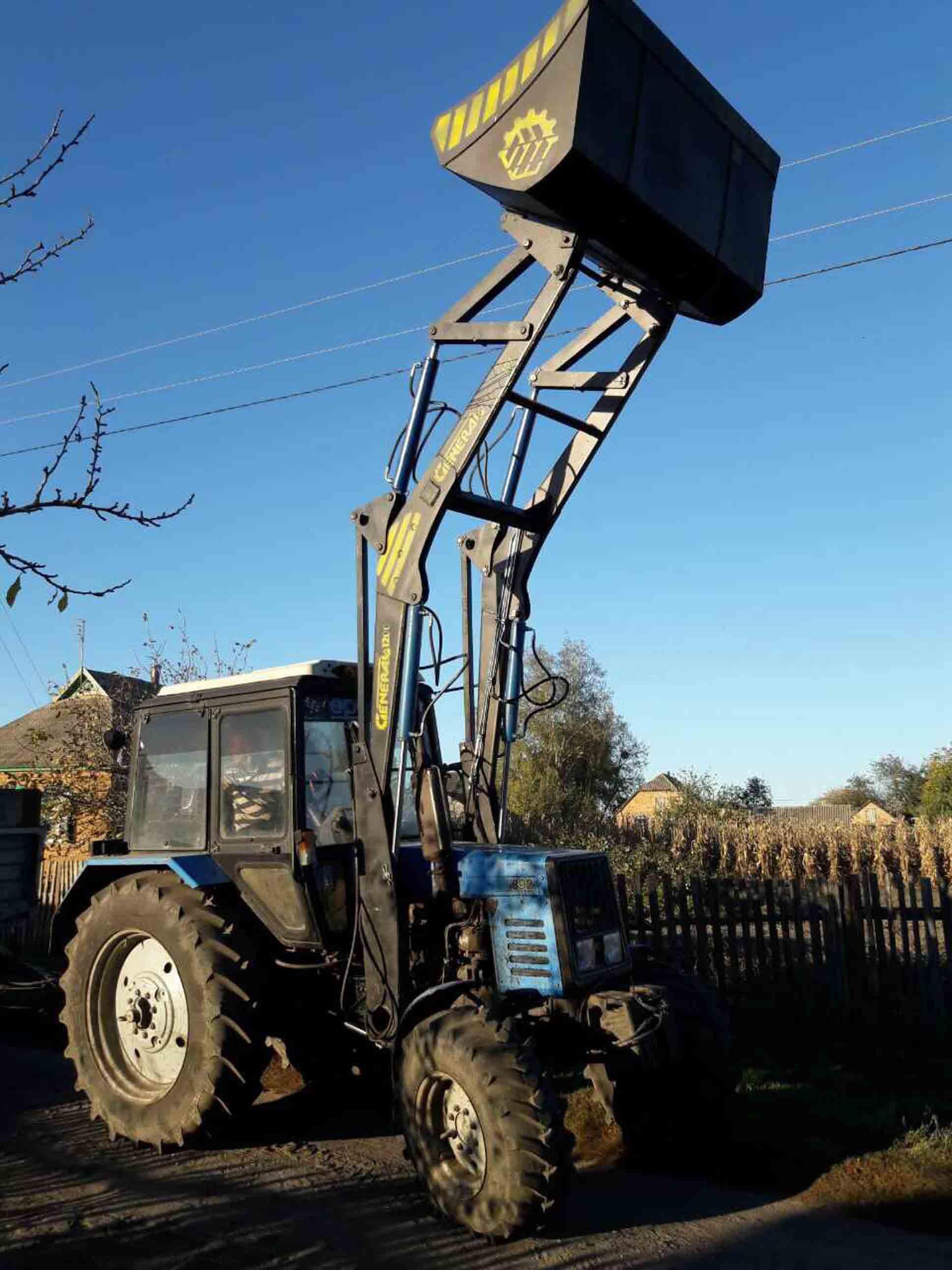 Фронтальный погрузчик КУН GENERAL 1600 к тракторам МТЗ, ЮМЗ, Т-40 фото 2