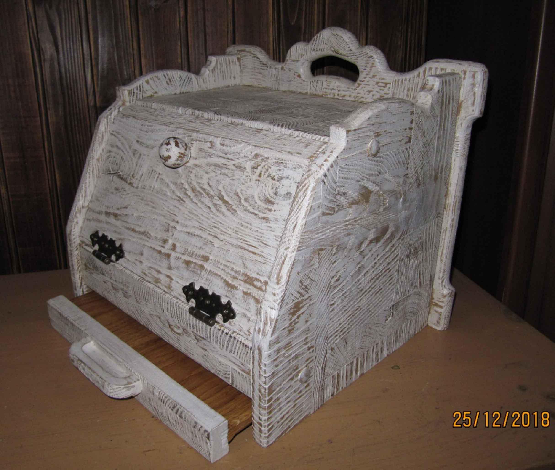 Хлебница с выдвижной досточкой, подарок фото 2