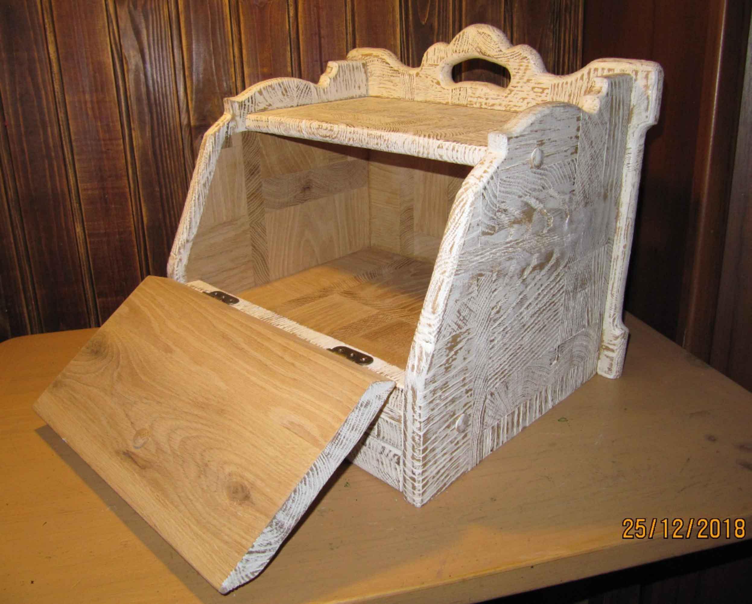 Хлебница с выдвижной досточкой, подарок фото 3