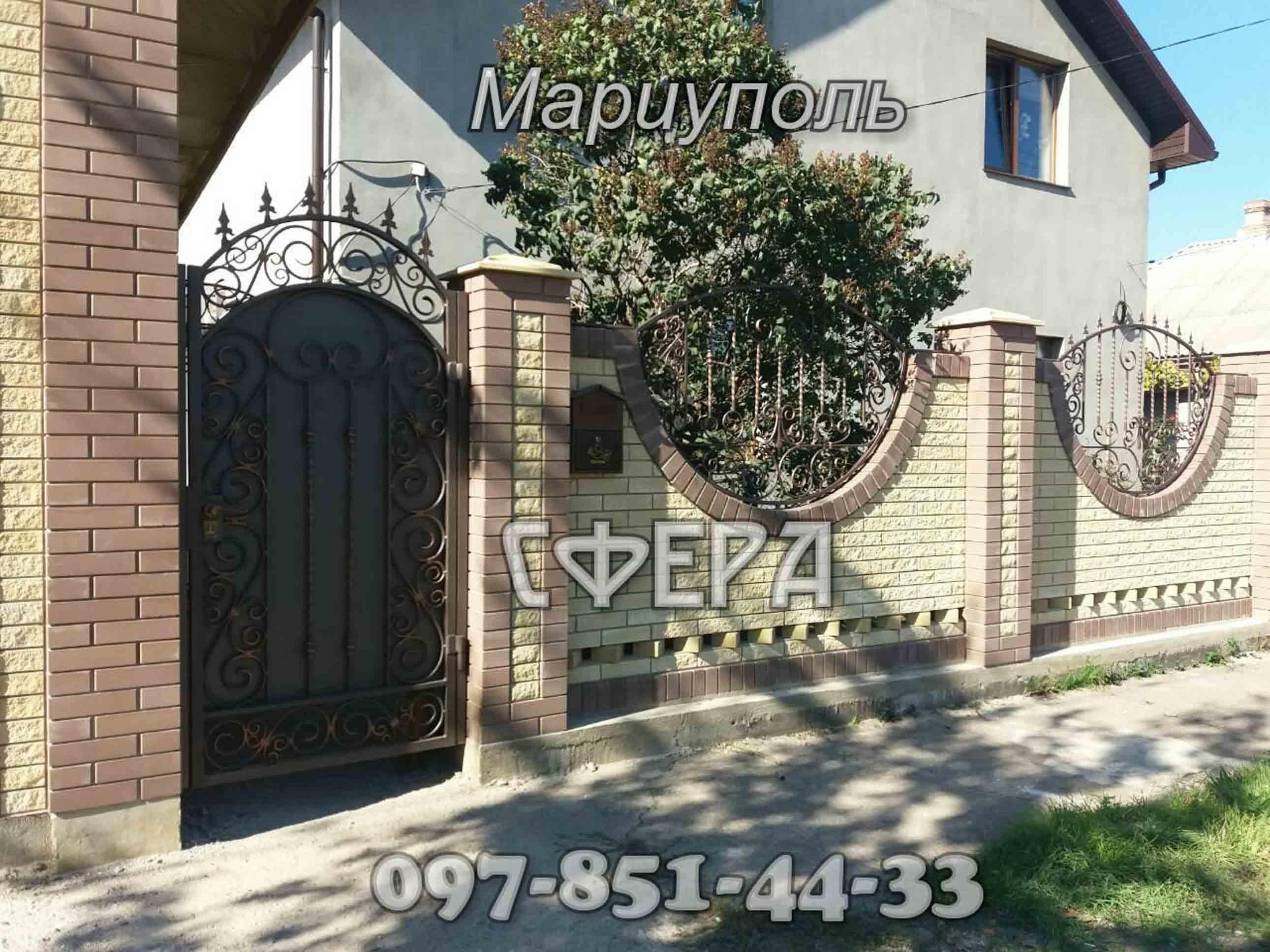 Заборы металлические, кованые, с профлиста, блок-хаус, решетчатые. фото 1