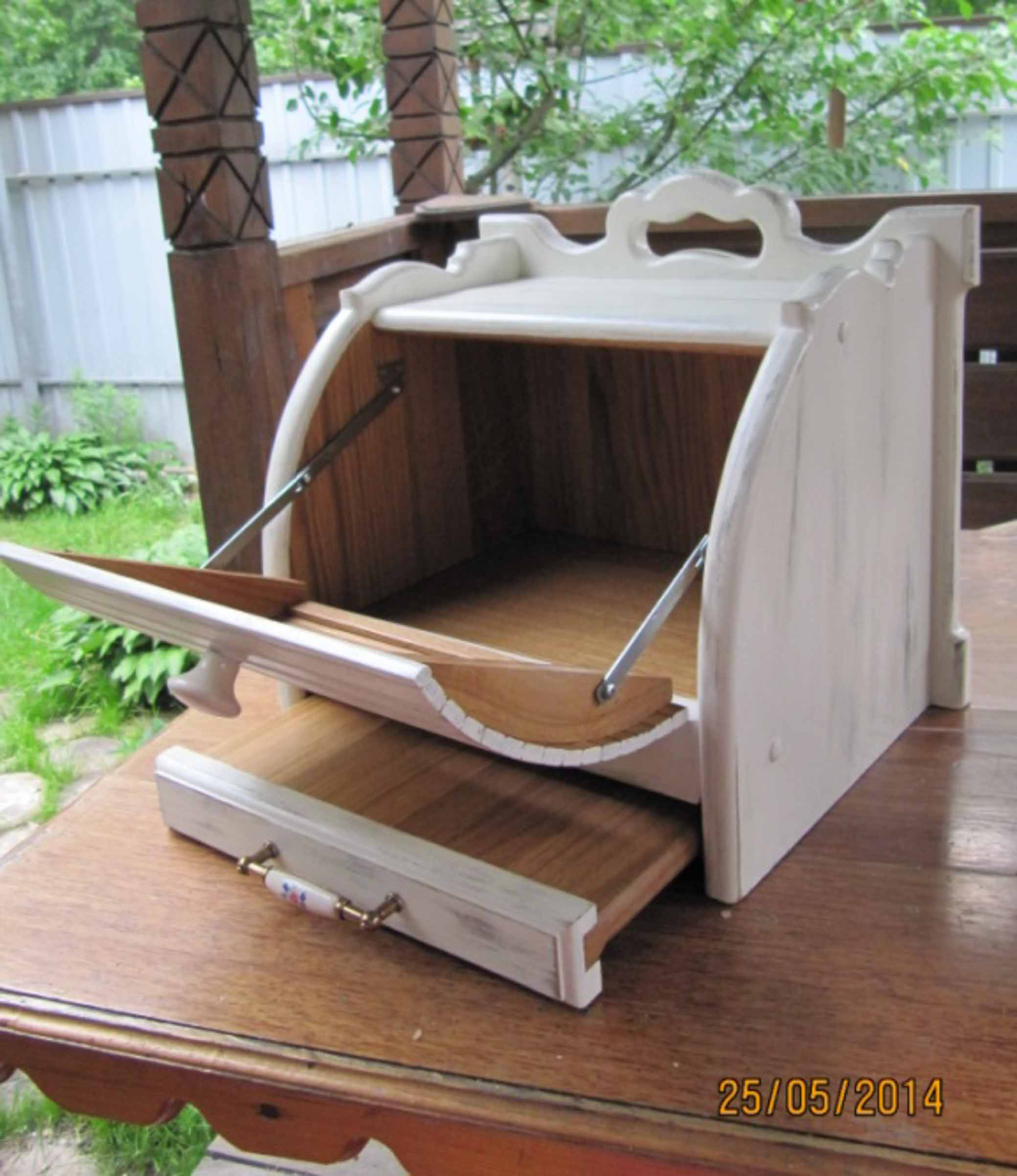 Хлебница с выдвижной досточкой, подарок фото 6