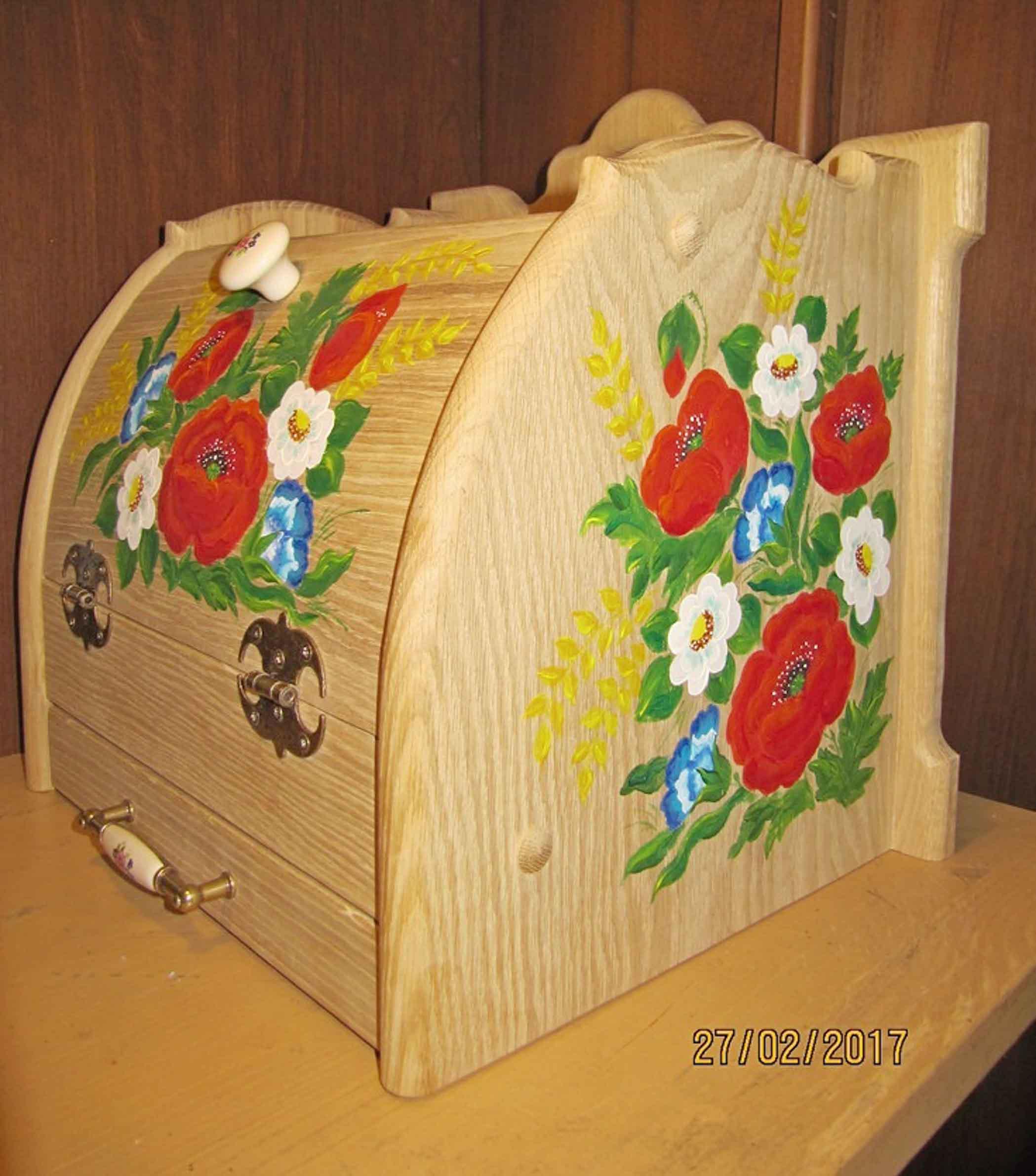 Хлебница с выдвижной досточкой, подарок фото 7