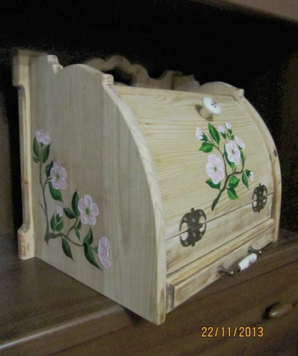 Хлебница с выдвижной досточкой, подарок фото 4