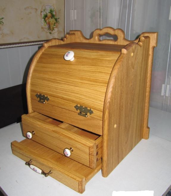 Хлебница с выдвижной досточкой, подарок фото 5