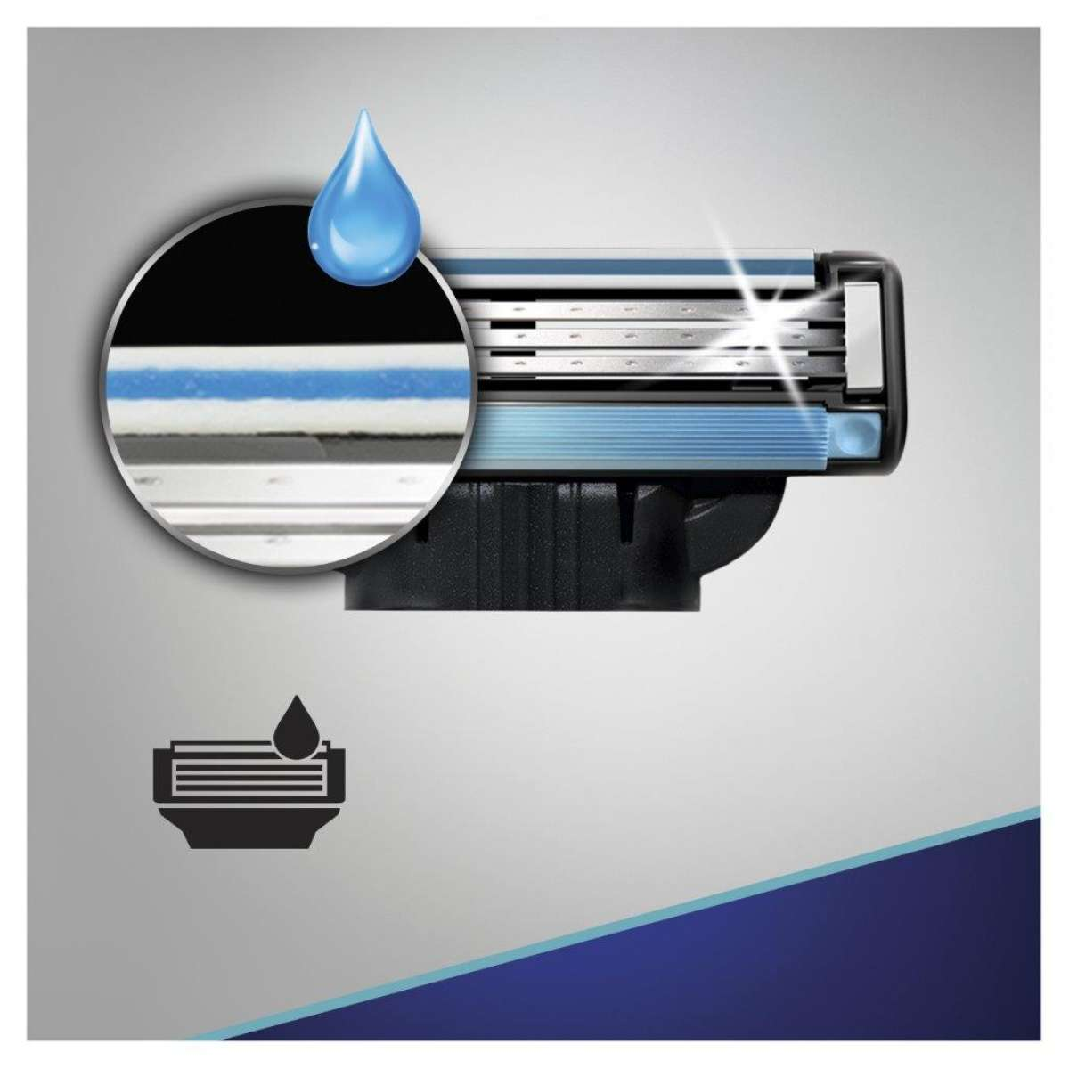 Сменные картриджи для бритья (Лезвия) Gillette Mach 3 8 шт. фото 5
