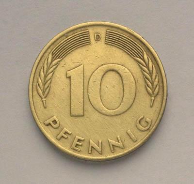 10 пфеннингов(1978) Германия