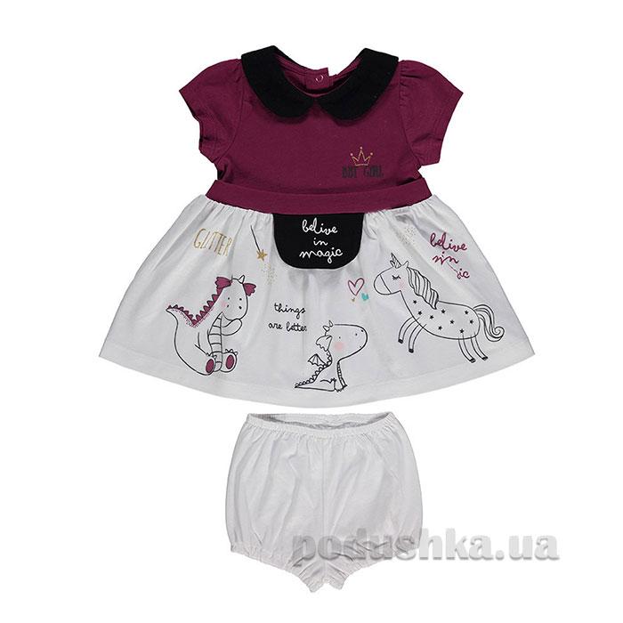 Комплект для девочки платье + шортики Bebetto