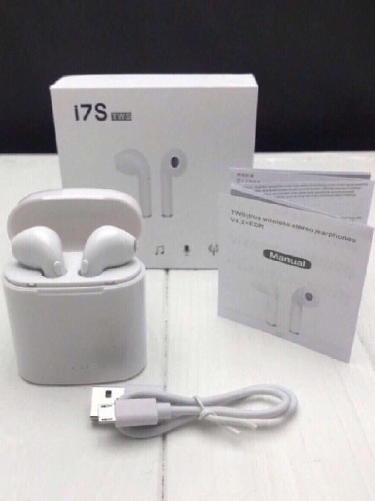 Беспроводные наушники I7s TWS Bluetooth с кейсом аналог реплика Airpod