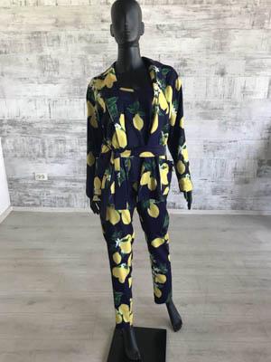 Шёлковый женский лёгкий костюм в пижамном стиле